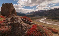 Mirador del río de las vueltas, en El Chaltén, Argentina