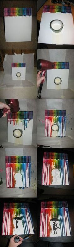 Melted Crayon. This is how I did it.