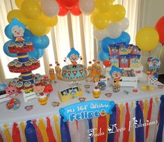 Plim Plim children's theme party - Celebrat : Home of Celebration, Events to Celebrate, Wishes, Gifts ideas and more ! Birthday Themes For Boys, Baby Boy 1st Birthday, Circus Birthday, 4th Birthday Parties, Carnival Themed Party, Circus Party, Circo Do Mickey, Carnival Baby Showers, Party Sweets
