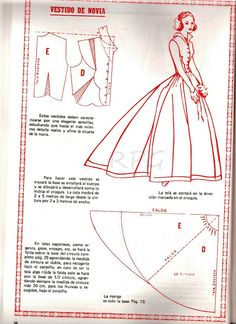 Super diy wedding dress patterns how to make sew ideas Barbie Patterns, Costume Patterns, Dress Sewing Patterns, Doll Clothes Patterns, Vintage Sewing Patterns, Sewing Clothes, Clothing Patterns, Diy Wedding Dress, Wedding Dress Patterns