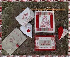 Broderie rouge, couture et patchwork - So Cosy, le petit monde de Sofie