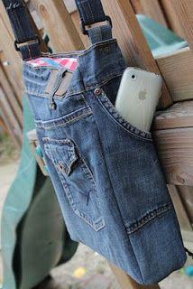 Hanneke's weblog: Go Recycle! Jeans tas