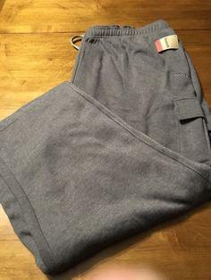 Reebok Sport Gray Stretch Sweat Active Pants Men's Big N Tall Size 3XLT New! #Reebok #TracksuitsSweats
