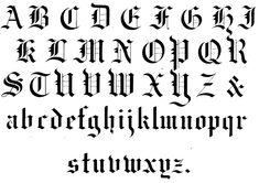 14 Medieval Calligraphy Fonts Images - Medieval Calligraphy Alphabet, Gothic Calligraphy Alphabet and Gothic Font Alphabet Letters Modern Calligraphy Alphabet, Calligraphy Fonts Alphabet, Hand Lettering Alphabet, How To Write Calligraphy, Calligraphy Writing, Calligraphy Doodles, Penmanship, Islamic Calligraphy, Gotisches Alphabet