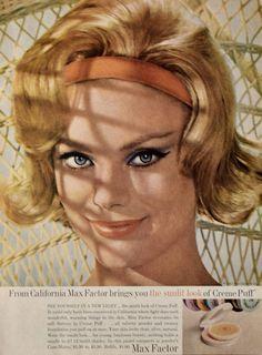 1963 Max Factor Ad Sunlit Look of Creme Puff Retro   Etsy