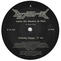 """For Sale - Bjork Violently Happy France Promo  10"""" vinyl single (10"""" record) - See this and 250,000 other rare & vintage vinyl records, singles, LPs & CDs at http://eil.com"""