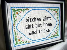 Dr Dre Cross Stitch.. I am going to start cross stitching raps, I really love this idea.