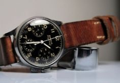 A vintage Sky Chiefpilot's chronograph by American brand Benrus