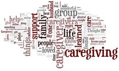 Words associated with caregiving