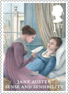 Jane Austen stamps go on sale ~ All six published novels are included in the Royal Mail stamps issued to mark the anniversary of Pride and Prejudice. Royal Mail Stamps, Uk Stamps, Postage Stamps, Jane Austen Novels, Jane Austen Quotes, Regency Fashion, Elizabeth Gaskell, Charlotte Bronte, Agatha Christie