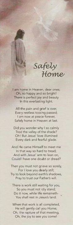 Safely Home in Heaven