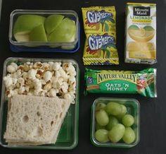 Green themed kids lunchbox