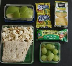 Green themed kids lunchbox