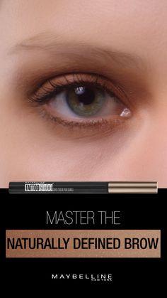 Get naturally defined brows with NEW Maybelline TattooStudio Brow Tint Pen Makeup Tips, Makeup Videos, Love Makeup, Makeup Inspo, Makeup Looks, Makeup Eyeshadow, Mac Makeup, Skin Makeup, Eyeshadow Tutorial Natural