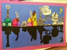 Tales from the Traveling Art Teacher!: City Skylines: 3rd Grade and Symmetry