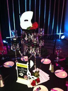 The cool Phantom Of The Opera Centerpiece Www.theeventscompany With Phantom Of The Opera Party Decorations photograph below, is section of … Broadway Party, Masquerade Decorations, Masquerade Party, Aaliyah, Sweet 16 Decorations, Event Themes, Prom Themes, Phantom Of The Opera, Party Entertainment
