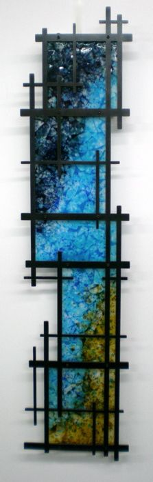 Siyeh Studio Kiln Formed Fused Glass Art large piece from small kiln (frame) Glass Wall Art, Fused Glass Art, Stained Glass, Glass Ceramic, Mosaic Glass, Kiln Formed Glass, Sculpture, Glass Design, Glass Panels