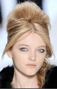 Hair Design Styles Retro Beehive Hairstyle Long Hair Hairdo Updo 2010 2011 Pictures