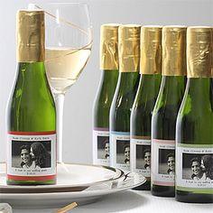 Personalized Mini Wine Bottle wedding favors