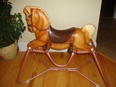 Vintage toy spring horse Wonder Horse Deluxe circa 1950's , via Etsy.