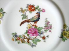 Decorative Dishes - Vintage European Chinoiserie Exotic Bird Roses Small Decorative Plate, (http://www.decorativedishes.net/vintage-european-chinoiserie-exotic-bird-roses-small-decorative-plate/)