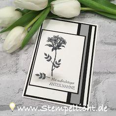 Trauerkarten mit dem SAB Set Gartengrüße von Stampin´Up!