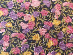 WtW Estate Fabric Hoffman Floral Flower Garden Nature Metallic BTY Quilt