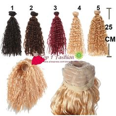DIY Curly Hair Wig Hairpiece Pour 1//3 BJD Doll Dress Up Cosplay Cadeaux