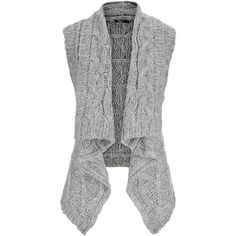 maurices Silver Jeans ® Sweater Vest ($50) ❤ liked on Polyvore featuring outerwear, vests, sweaters, cardigans, grey, vest waistcoat, cropped sweater vest, grey vest, gray sweater vest and silver vest