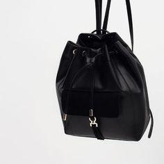 Casual Black backpack from Zara Backpack Bags, Leather Backpack, Fashion Backpack, Mini Backpack, Black Backpack, Leather Bags, Real Leather, Noora Skam, Women Accessories