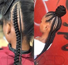 Stunning Black Girls Hairstyles Ideas in 2019 87 Stunning Black Girls Hairstyles Ideas in Creative hairstyles for African-American girls and women. Plenty of natural doses knits and corn fields for a great source of inspiration! Little Girl Braids, Black Girl Braids, Braids For Kids, Braids For Black Hair, Girls Braids, Little Girl Braid Styles, Kid Braid Styles, Weave Braid Styles, Kids Braided Hairstyles
