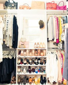 Love how this closet is organized