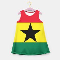 GHANA (FLAG) Girl's Summer Dress