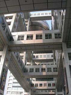 Fuji Building, Odaiba, Kenzo Tange