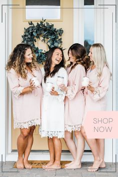 Lace Bridal Robe, Bridal Party Robes, Bridal Party Shirts, Lace Bridesmaids, Bridesmaid Robes, Bridesmaid Proposal, Bridal Party Getting Ready, Personalized Bridesmaid Gifts, Brie