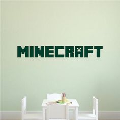 Custom Minecraft Font Decal _ Boys Minecraft Personalized Video Game Bedroom Wall Sticker _ DIY Minecraft _ Trendywalldesigns