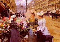 Louis Marie de Schryver, Marchande de fleur