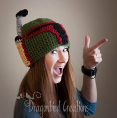 Free Crochet Pattern for this Star Wars inspired Malendorian Helmet (aka Boba Fett's hat)