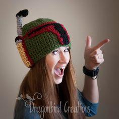 Free Crochet Pattern for this Star Wars inspired Malendorian Helmet (aka Boba Fett's hat)