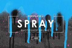 214 Spray Photoshop Stamp Brushes by ArtistMef on @creativemarket