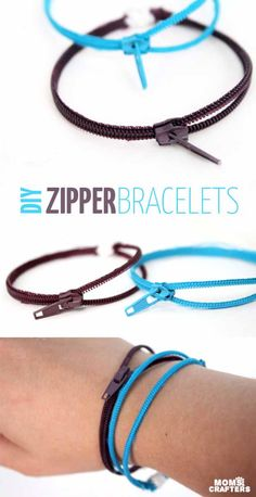 Cool Crafts You Can Make for Less than 5 Dollars | Cheap DIY Projects Ideas for Teens, Tweens, Kids and Adults | DIY Zipper Bracelets | http://diyprojectsforteens.com/cheap-diy-ideas-for-teens/