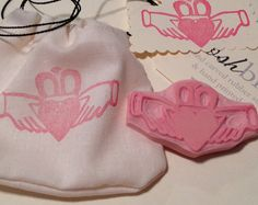 NEW Irish Claddagh Rubber Stamp Hand Carved for Cards by PoshBinky, $11.00