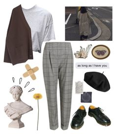 """69"" by ourijimin ❤ liked on Polyvore featuring Dr. Martens, Temperley London, Betmar and Old Navy"