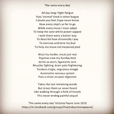 'The same every day' #poetry #pain #EDS #Chiari #POTS