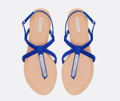 Sandals with metal trim - OYSHO