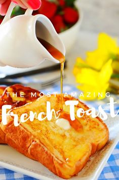 THICK BATTER and AMAZING French Toast!!! EASY recipe for French toast. BEST FRENCH TOAST EVER!