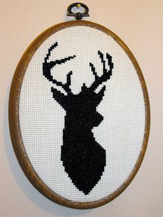 Free deer cross stitch pattern   This is the finished cross …   Flickr