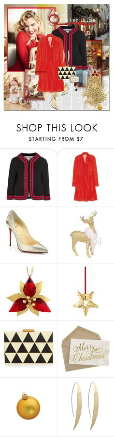 """""""Christmas is the most wonderful time of the year"""" by rainie-minnie ❤ liked on Polyvore featuring Gucci, Temperley London, Christian Louboutin, Threshold, Swarovski, Georg Jensen, Valentino, Kurt Adler and Dolce&Gabbana"""