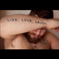Love Tattoo Laugh Men Color Male Paint Body Arm Style