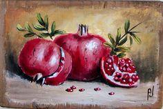 Botanical Drawings, Botanical Prints, Pomegranate Art, Islamic Art Calligraphy, Calligraphy Alphabet, Celtic Art, Celtic Dragon, Lemon Painting, Soft Pastel Art